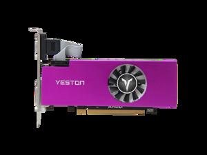 Yeston AMD RX 560 4G D5 LP Gaming Graphics Card Video Card GPU GA Fan Edition, 4G/128bit/GDDR5 PCI-Express 3.0x8 DirectX 12,DVI-D HDMI DP Desktop Graphics Card (RX560D-4G D5 LP)