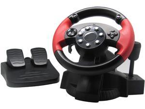 PC Gaming Racing Steering Wheel, PS3, PS4, Xbox One 360, Nintendo Switch Universal Usb Car Sim degree Race Steering Wheel with Pedals,Dual motor reaction driving force simulator