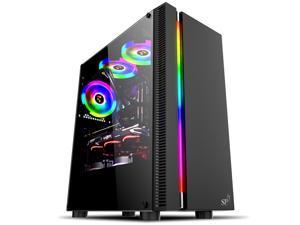 Abit ATX Mid Tower Gaming PC Case-Desktop Computer Case  - SP0002 Black