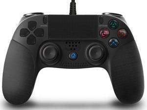 Controller for PS4, Wired Controller for Playstation 4/PS4 Pro/Slim, with Dual Vibration, Speaker & Stereo Headset Jack, Touch Pad & Six-axis Motion Control, Functional LED Indicator