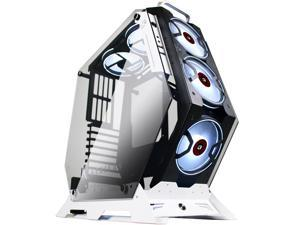 KEDIERS 5 PCS RGB Fans ATX Mid-Tower PC Gaming Case Open Computer Tower Case - USB3.0 - Remote Control - 2 Tempered Glass - Cooling System - Airflow - Cable Management