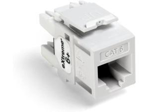 Leviton 61110-OW6 eXtreme Cat 6 QuickPort Connector, 10-Pack, White