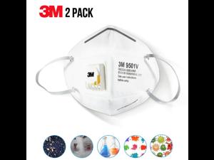 2pcs of 3M N95 Respirator Mask 9501V KN95 Face Mask