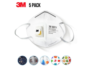 5pcs of 3M N95 Respirator Mask 9501V KN95 Face Mask