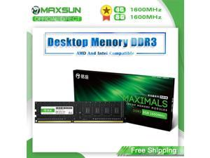MAXSUN Single Memoria Ram DDR3 4GB/8GB 1600MHz Voltage 1.5V Interface Type 240Pin Lifetime warranty Desktop Dimm For Intel AMD