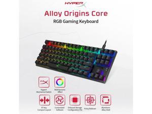 Kingston Mechanical Keyboard HyperX Alloy Origins Core RGB Gaming Keyboard 87 Keys Mechanical Keyboard Aqua Switch