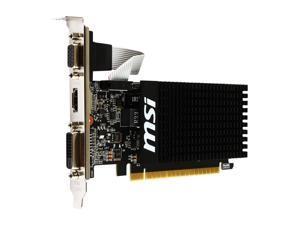 Low Profile GeForce GT 710 DirectX 12 GT 710 1GD3H LPV1 1GB 64-Bit DDR3 PCI Express 2.0 x8 HDCP Ready Low Profile Video Card