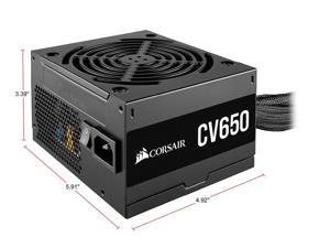 CORSAIR CV Series CV650 CP-9020211-NA 650W ATX12V 80 PLUS BRONZE Certified Non-Modular Power Supply Full Continuous Power Low-Noise Cooling