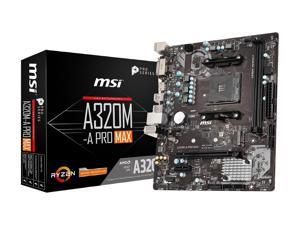 A320M-A PRO MAX Socket AM4 AMD A320 DDR4 Micro ATX Motherboard (A320M-A PRO MAX)
