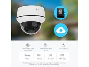 Hikvision Camera Anpviz 2/5/8MP IP PTZ Camera POE Speed Dome 4X zoom IR 30m Onvif Two-way Audio  Hikvision Compatible, 5MP, 4X, Two-way Audio, SD Card Storage