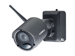 Lorex LWB6850W 1080p HD Wireless Black Metal Rechargeable and Audio Security Camera, Audio Recording and Two-Way Talk