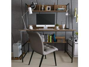 Mecor Computer Desk Study Writing Table for Home Office ,Modern Writing Study Desk with Storage Bookshelf and CPU Stand for Small Spaces, PC Laptop Table Workstation for Home Office