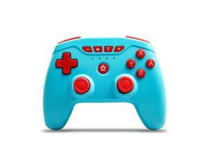 Switch Controllers, Wireless 6-Axis Gamepad Bluetooth Dual Vibration Controller For Switch Pro, Product color: Blue + Red Button