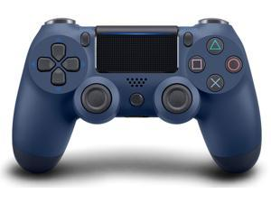PS4 Controller Wireless, Dual Shock High Performance Gaming Controller for Playstation 4 /Pro/Slim/PC with Audio Function, Mini LED Indicator, USB Cable  - Midnight Blue