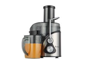 American standard 110V 800W 85MM Large Diameter 1000Ml Juice Cup 1500Ml Pomace Cup Third Gear Electric Juicer Stainless Steel Black