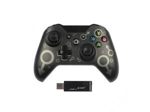 Wireless Controller for Xbox One, 2.4 GHZ Bluetooth Game Controller Plug and Play, Bluetooth Remote Joypad for Xbox One/Xbox One S/Xbox One X/Xbox Series X/PS3/PC, No Headset Jack(Black)
