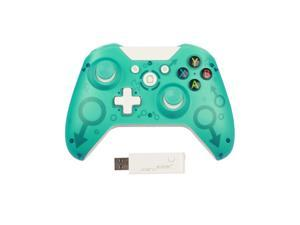 Wireless Controller for Xbox One, 2.4 GHZ Bluetooth Game Controller Plug and Play, Bluetooth Remote Joypad for Xbox One/Xbox One S/Xbox One X/Xbox Series X/PS3/PC, No Headset Jack(Green)