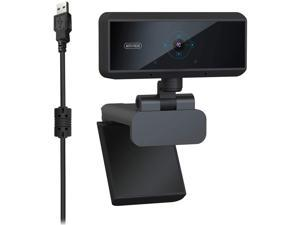 1080P Business Webcam with Dual Microphone & Privacy Cover, 2021 Upgraded USB FHD Web Computer Camera, Plug and Play, for Zoom/Skype/Teams Online Teaching, Laptop MAC PC Desktop