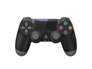 PS4 Controller Wireless, Dual Shock High Performance Gaming Controller for PS 4 /Pro/Slim/PC with Audio Function, Mini LED Indicator - Black