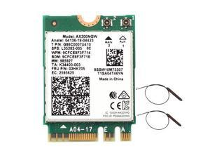 3000Mbps WiFi 6 M.2 Key E For Intel AX200 Dual Band Wireless Adapter, AX200NGW Bluetooth 5.0 Wi-Fi Network Card, 2.4Ghz/5Ghz, 802.11ac/ax, Support MU-MIMO, OFDMA, Support Windows 10 For Laptop Desktop