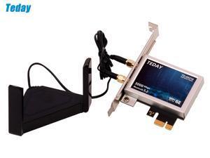 Teday TD-AX210 PRO Wi-Fi 6E PCIe Desktop Wireless Adapter Intel AX210 Bluetooth 5.2 + 3000Mbps 2.4Ghz 5Ghz 6Ghz WiFi 6 Card 802.11ax/ac Support MU-MIMO OFDMA Windows 10 With 6Dbi Antenna Set