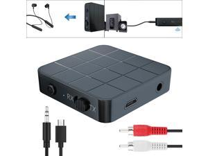 2 IN 1 Bluetooth 5.0 Transmitter Receiver Wireless Audio Aux 3.5mm Adapter For TV Computer Speaker Car Stereo 3.5mm AUX Jack RCA Adapter