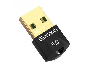 USB Bluetooth 5.0 Adapter for PC Win10/8.1/8/7/XP/Vista, Bluetooth Dongle Receiver/Transmitter Support Multiple Device Connections: Headset, Mouse, Keyboard, Printer, Speaker