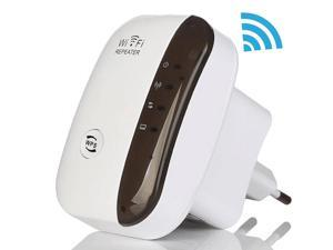 TelDaykemei N300 Wifi Repeater, 300Mbps Range Extender WiFi Booster, Access Point 802.11n/b/g Network Router WiFi Signal Amplifier, With 3dBi Internal Antennas, WPS Protection, AP Mode