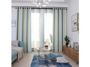 Solid Color Full Blackout Curtains Are Suitable For Bedroom And Study, 39.37 Inches (Width) x 98.42Inches (Length), 2 Panels Set