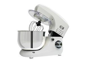 Stand Mixer, 1200W Dough Mixer, Tilt-Head Electric Mixer with Stainless Steel Bowl, Dough Hook, Mixing Beater and Whisk, 5L