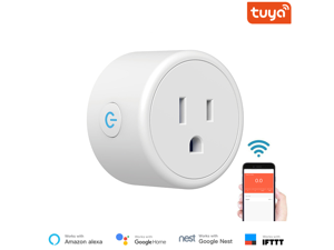 Smart Plug, Mini WiFi Outlet Works with Alexa, Google Home, No Hub Required, Remote Control Your Home Appliances from Anywhere(2 Pack)