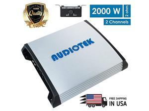 At804S 4 Channels Class Ab 2 Ohm Stable 1000W Stereo Power Car Amplifier, Gray