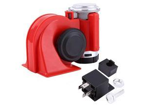 12Volt Loud Car Air Horn Big Truck Horn 150db with Automotive Relay Electric Horn for Truck Car Motorcycle (Red)