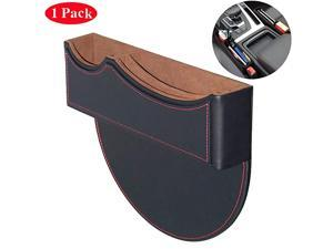 Seat Gap Filler, Console Organizer, Car Pocket, Seat Catcher, Seat Crevice Storage Box for Smartphone Loose Change Coin Wallet Key (Black)