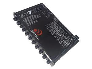 EQ7X Car Equalizer with 7 Band Graphic Equalizer Aux inputs 7V RCA Outputs 8V Line Driver 12dB Crossover