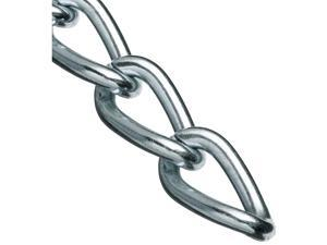"0719027 Hobby and Craft Twist Chain, Nickel Plated, #90 Trade, 0.056"" Diameter, 5 lbs Load Capacity, 82 Feet Mini Reel"