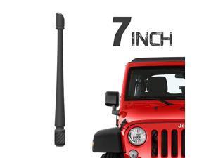 Antenna Compatible with 20072021 Jeep Wrangler JK JKU JL JLU Rubicon Sahara Gladiator 7 inches Flexible Rubber Antenna Designed for Optimized FMAM Reception