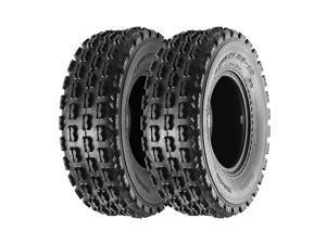 Set of 2  22x7-10 22-7-10 Front ATV Tires Quad Sport ATV UTV Tires 22x7x10 4-Ply Mud Sand Snow and Rock Tires Tubeless Knobby Sport Tires