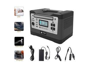 Portable Power Station 540wh Solar Generator Backup Lithium Battery Pure Sine Wave AC Outlet, 1000w peak, Emergency Power Supply, CPAP, Outdoors, Camping, Portable Generator Rechargeable Inverter