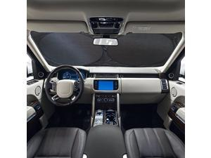 Windshield Sun Shade 63 x 34 Inch, Powerful UV Ray Deflector, Keep Your Vehicle Cool and Damage Free, Snow Shade