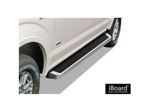 iBoard (Silver Running Board Style) Running Boards Nerf Bars Side Steps Step Rails Compatible with Ford F150 2015-2021 SuperCrew Cab & F-250 F-350 Super Duty 2017-2021 Crew Cab