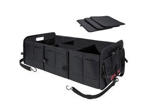 Multipurpose Car SUV Trunk Organizer,Durable Collapsible Adjustable Compartments Cargo Storage,Upgraded Handle,AK-072