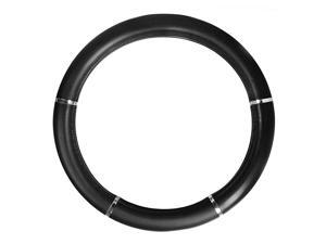 General 54012 Heavy Duty 18 inches Black with chrome trims Steering Wheel Cover in Deluxe Accents Series