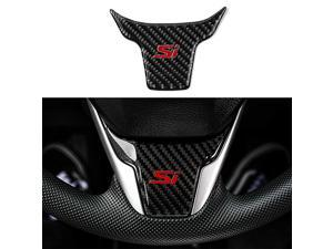 for 10th Gen Civic Real Carbon Fiber Steering Wheel Trims Interior Wheel Cover Decoration for Honda Civic 2020 2019 2018 2017 2016 (with Si)