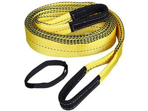 """Heavy Duty Tow Belt 3"""" x 20' 30,000Lbs, Tow Strap with Reinforced Loops"""