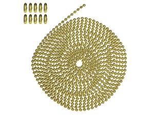 10 Foot Length , Number 6 Size, Brass Plated Steel, & 10 Matching Connectors