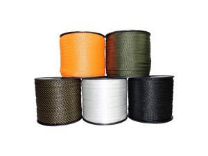 """Polyester Webbing - Durable Flat Rope for Gardening and Commercial (5/8"""" x 3000ft, White)"""