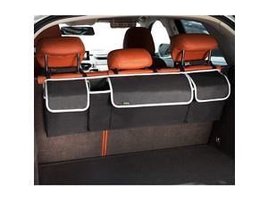 Backseat Trunk Organizer, Hanging Seat Back Storage Organizer for SUV and Many Vehicles – Free Your Trunk Space