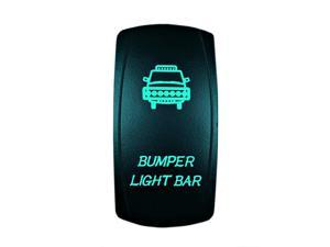 5 Pin Laser Automotive Rocker Switches On/Off LED Light 12V 20A - Interior Accessories for Car, Truck, UTV, ATV, Utility and Off-Road Vehicles (Bumper Lights, Green)