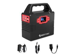 150Wh 40,800mAh Portable Generator Power Supply, CPAP Battery Pack with AC Power Inverters 110V, USB Ports, DC 12V, Charged by Wall Outlet/Solar Panels/Car